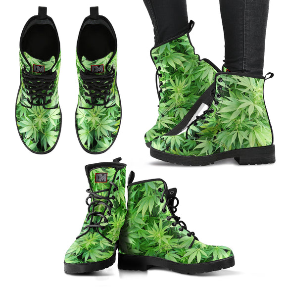 [50% OFF] Dank Master Green Weed Boots