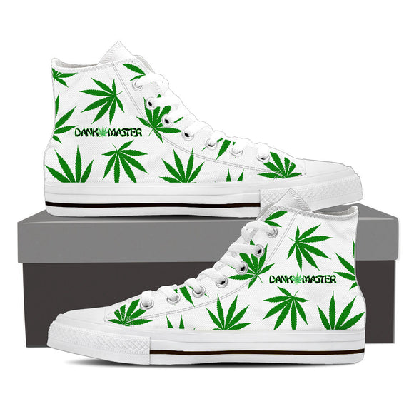 Dank Master Weed Leaf High Top Canvas Shoes - Dank Master