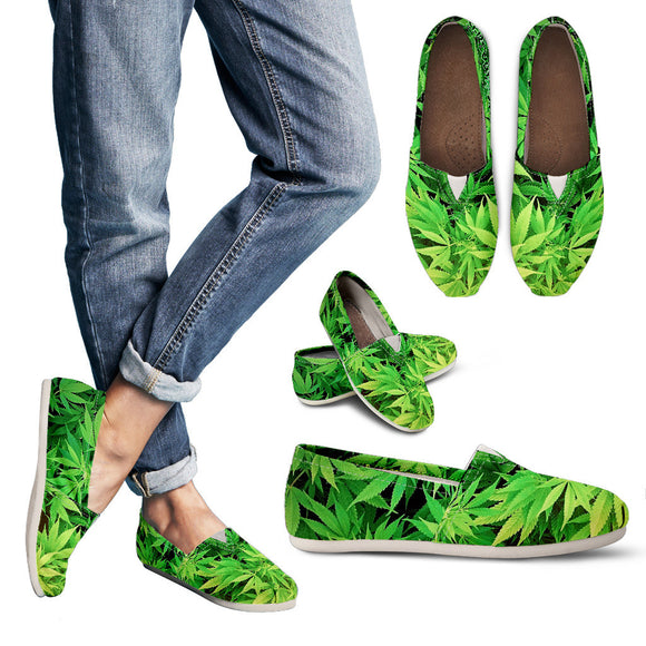 Dank Master Green Weed Women's Casual Shoes