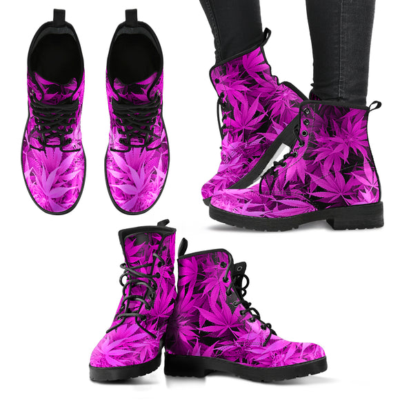 [50% OFF] Dank Master Hot Pink Weed Boots