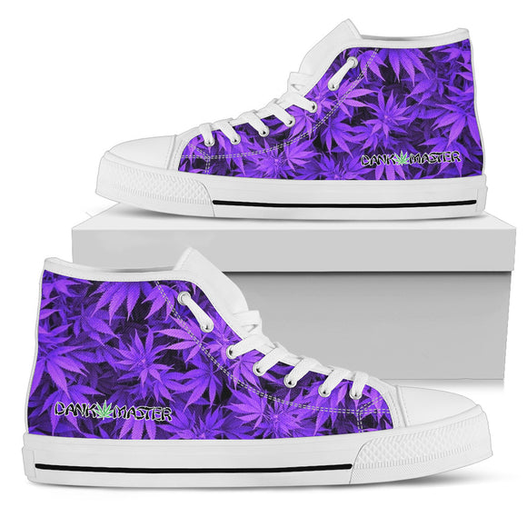 Dank Master Purple Weed High Top Canvas Shoes - Dank Master
