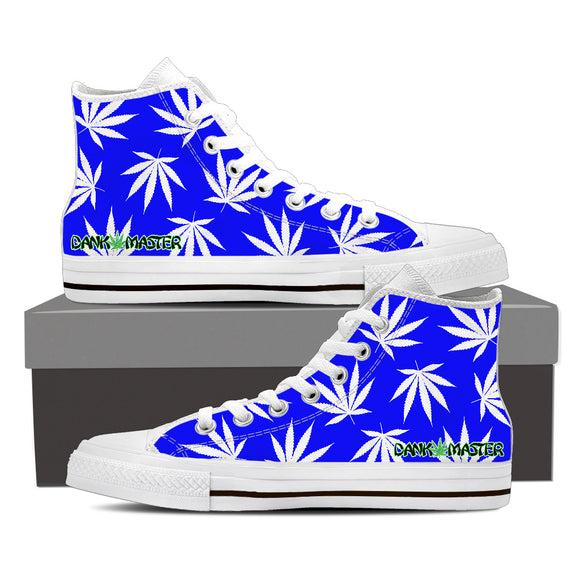 Dank Master Weed High Top Canvas Shoes - Royal Blue