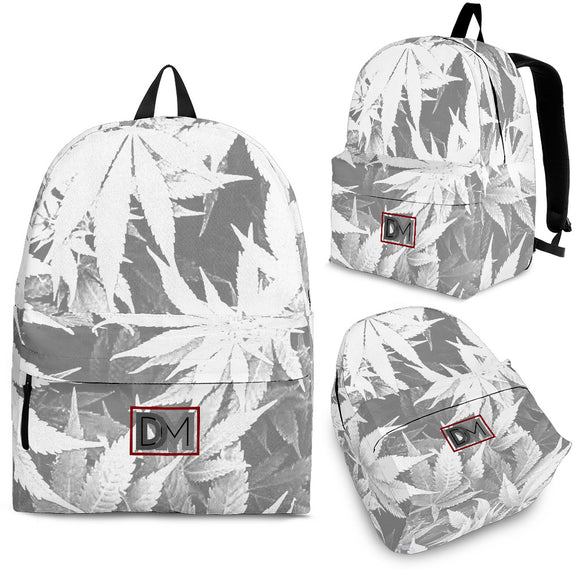 Dank Master OG White Signature Weed Leaf Backpack