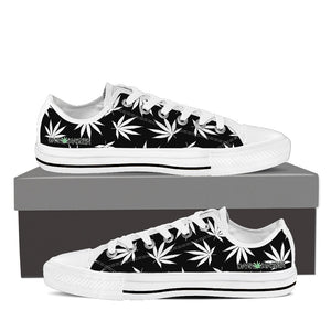 Dank Master Weed Low Top Canvas Shoes - Black [2 colors] - Dank Master
