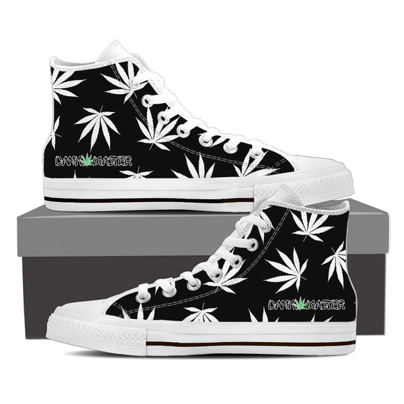 Dank Master Weed High Top Canvas Shoes - Black [2 colors]
