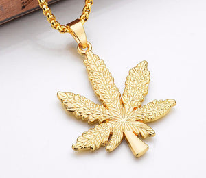 Dank Master Weed Leaf Chain Necklace - Dank Master