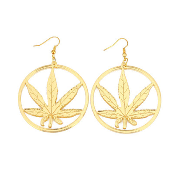 Dank Master Gold Weed Earrings - Dank Master