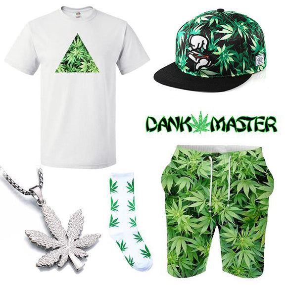 Dank Master Green Weed Summer Outfit - Dank Master