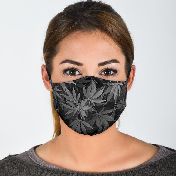 Dank Master OG Black Custom Weed Leaf Face Mask