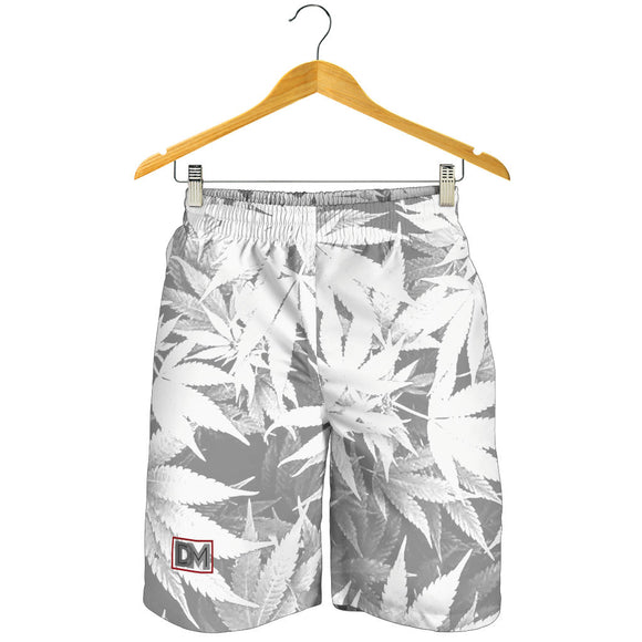 Dank Master Men's OG White Signature Weed Leaf Shorts