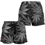 Dank Master Women's OG Black Signature Weed Leaf Shorts
