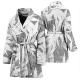 Dank Master Women's OG White Custom Weed Leaf Bathrobe