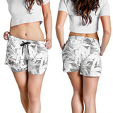 Dank Master Women's OG White Signature Weed Leaf Shorts