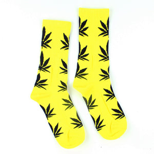 Dank Master Men's Weed Socks Yellow - Dank Master