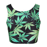 Dank Master Green Leaf Top & Skirt Set for Women - Dank Master