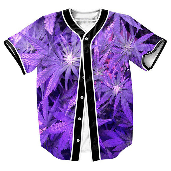Dank Master Purple Leaf Men's Jersey - Dank Master