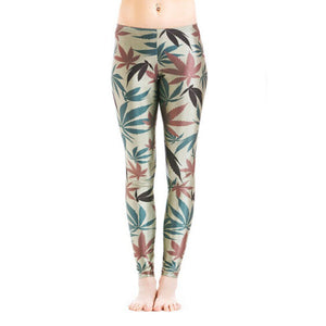 Dank Master Green Leaves Leggings - Dank Master
