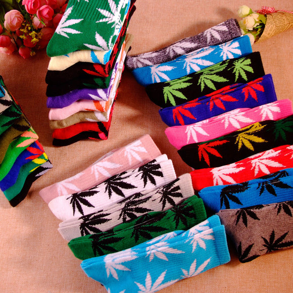Dank Master Color Weed Leaf Socks - Dank Master