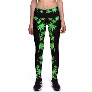Dank Master Green Leaf Leggings - Dank Master