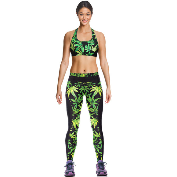 Dank Master Green Leaf Top & Leggings Set - Dank Master