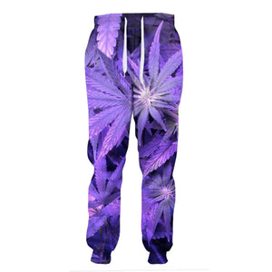 Dank Master Purple Leaf Sweatpants - Dank Master