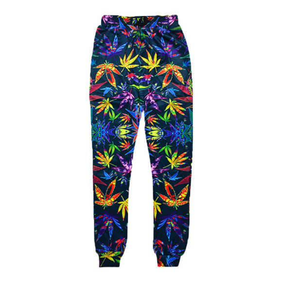 Dank Master Colorful Weed Jogger Sweatpants - Dank Master