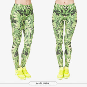 Dank Master Greed Weed Leaf Leggings - Dank Master