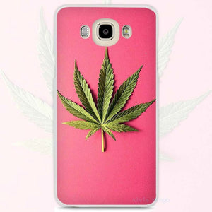 Dank Master Weed Leaf Pink Cell Phone Case for Samsung Galaxy - Dank Master