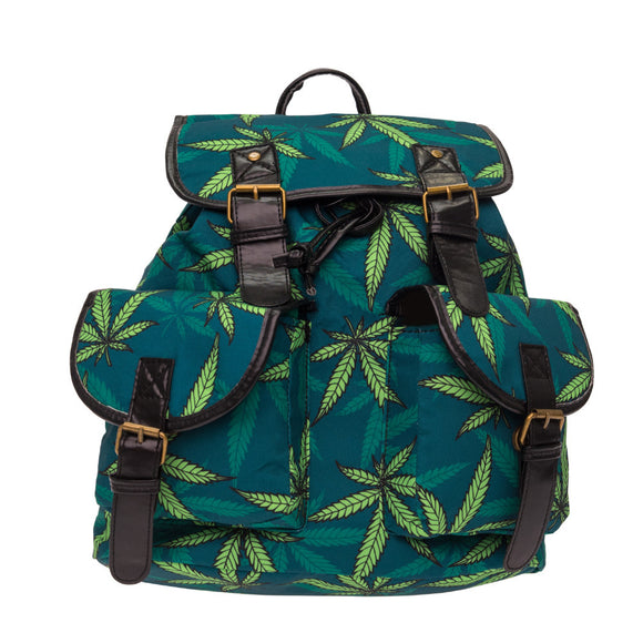 Dank Master Weed Leaf Backpack