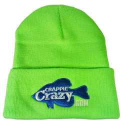 Embroidered Crappie Crazy Pro Staff Beanie