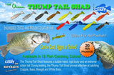 Thump Tail Shad 12 Pack Combo Kit