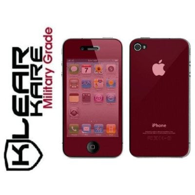 KlearKare Invisible Screen Shield Protector for Apple Iphone 4 Front + Back -  Lifetime Warranty - KlearKare