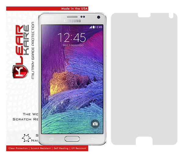 KlearKare Invisible Screen Shield Protector for Samsung Galaxy Note 4 - Lifetime Warranty - KlearKare