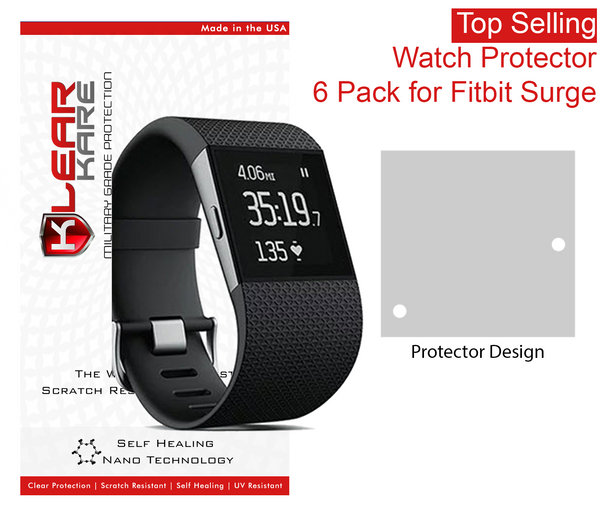 KlearKare Invisible Screen Shield Protector for FitBit Surge Face Bezel - 6 Pack - KlearKare