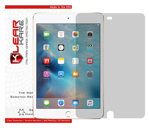 KlearKare Invisible Screen Shield Protector for Apple Ipad Mini 4 | Lifetime Warranty - KlearKare