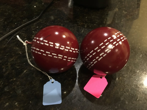 2 Gender Reveal Cricket Balls - Pink and Blue