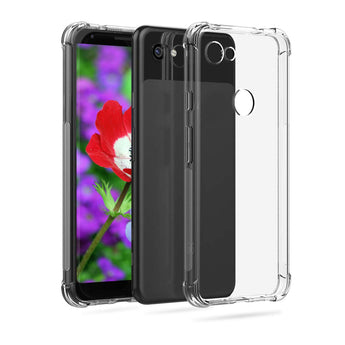 Pixel 3a Case, Clear Case for Google Pixel 3A, Case for Pixel 3a Unlocked Verizon Tmobile Sprint, Full Protection Bumper Cover Google Pixel 3a Phone Cases [Clear - Pixel 3A]
