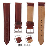 Top Grain Leather Watch Band, Quick Release Watch Bands, Replacement Watch Bands for Men and Women, Easy Swap, Change in Seconds [20mm Brown]