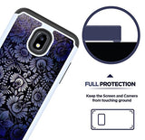 J7 V 2nd Gen Case, J7 2018 Cases, SM-J737V, J7 Refine, Samsung Galaxy J7 Aero, Protection Bumper for Samsung Galaxy J7 2018 [Blue Flower]