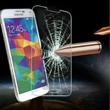 Galaxy Note 5 Case, Anti-Slip Hybrid Defender Protective Case with Tempered Glass Screen Protector, Full Protection Shockproof Shell by BOONIX [Titanium Silver]
