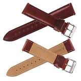 Top Grain Leather Watch Band, Quick Release Watch Bands, Replacement Watch Bands for Men and Women, Easy Swap, Change in Seconds [24mm Brown]