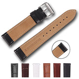 Top Grain Leather Watch Band, Quick Release Watch Bands, Replacement Watch Bands for Men and Women, Easy Swap, Change in Seconds [24mm Black]