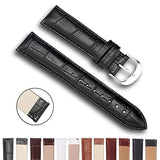 Top Grain Leather Watch Band, Quick Release Watch Bands, Replacement Watch Bands for Men and Women, Easy Swap, Change in Seconds [14mm Black]