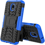 J7 V 2nd Gen Case with Stand, J7 2018 Cases, SM-J737V, J7 Refine, Samsung Galaxy J7 Aero, Protection Bumper for Samsung Galaxy J7 2018 [Blue Case]