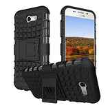 Boonix Case for J3 Eclipse, J3 Emerge, Express Prime 2, Amp Prime 2, J3 Prime, Samsung Galaxy J3 2017 [Easy Grip] Cover with Kickstand, Hybrid Protection Bumper + Stand, Guard Against Drops (Black)