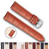 Top Grain Leather Watch Band, Quick Release Watch Bands, Replacement Watch Bands for Men and Women, Easy Swap, Change in Seconds [21mm Brown]