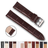 Top Grain Leather Watch Band, Quick Release Watch Bands, Replacement Watch Bands for Men and Women, Easy Swap, Change in Seconds [24mm Deep Brown]