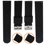 Quick Release Watch Band, Boonix Easy-Change Watch Strap, Replacement Bands for Men & Women - Easy to Use - No Tools Required - Swap in Seconds - Premium Rubber Wristband - Choice of Sizes [Black]