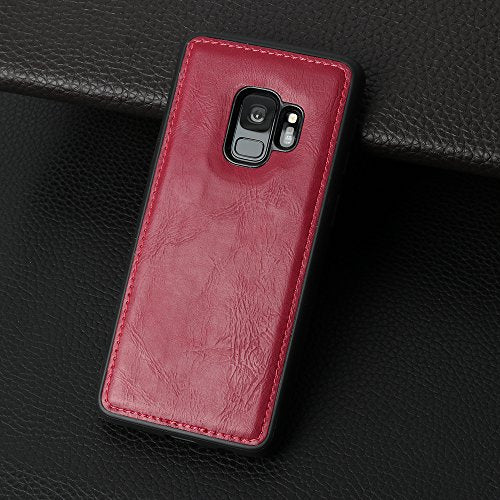 Samsung Galaxy S9 Wallet Red Case, [Folio Cover] [Stand Feature] Premium Credit Card Flip Case Protective Luxury PU Leather with Card Slot + Side Pocket Magnetic Closure