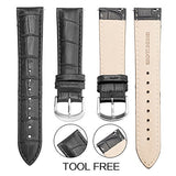 Top Grain Leather Watch Band, Quick Release Watch Bands, Replacement Watch Bands for Men and Women, Easy Swap, Change in Seconds [19mm Black]